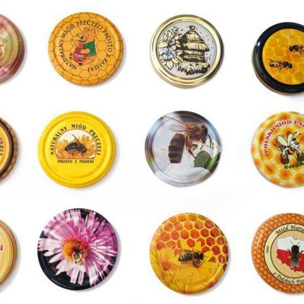 Zakrętki zpszczołami